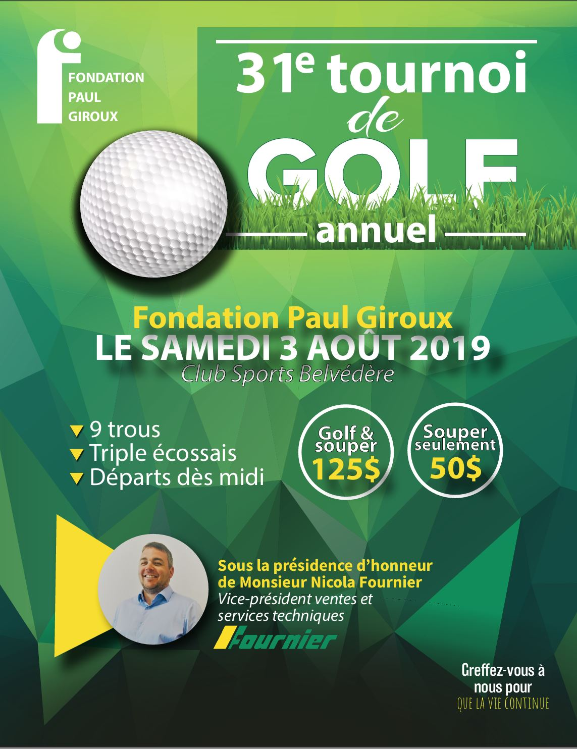 31e tournoi de Golf de la fondation Paul Giroux